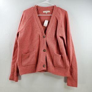 LOFT Button V-neck Cardigan Sweater